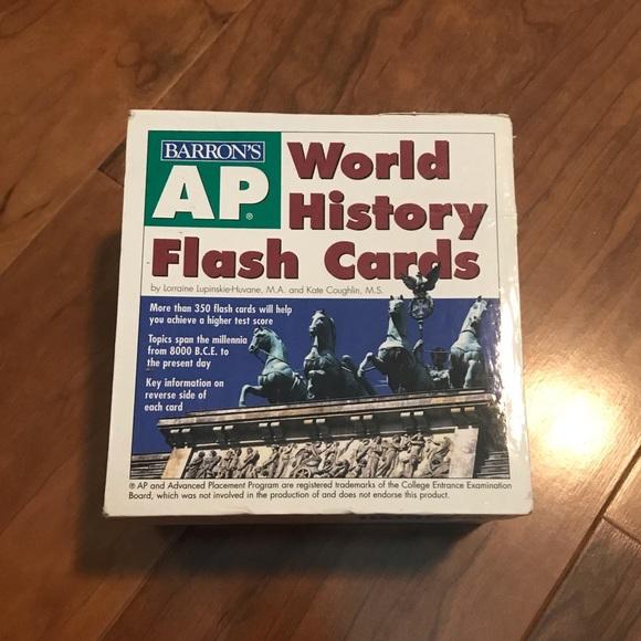 AP World History Barron's Flash Cards